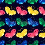 Farfalle Notte disegni vettoriali senza cuciture