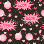 Boom Dangerous Love Seamless Pattern