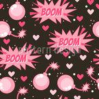 Boom Dangerous Love Seamless Vector Pattern Design
