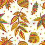Decorative Autumnal Repeat Pattern