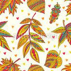 Dekorativ Herbstlich Nahtloses Vektormuster