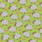 Schafe auf der Wiese Nahtloses Vektormuster