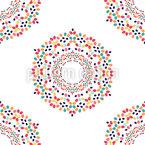Easter Egg Flowers  Seamless Pattern