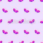 Retro Butterflies Repeat Pattern