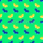 Schmetterlingspaare Nahtloses Vektormuster