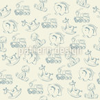 Cute Retro Toys Seamless Pattern