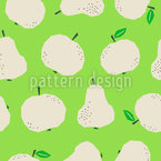 Healthy Autumn Fruits Repeat Pattern