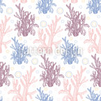 Coral reef and bubbles Seamless Vector Pattern Design