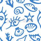 Mondo subacqueo Seashell disegni vettoriali senza cuciture