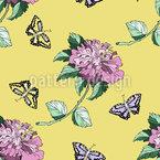 Dans le jardin fleuri Motif Vectoriel Sans Couture
