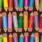 Farbige Buntstifte Vektor Muster