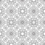 Symmetric Zentangle Vector Design