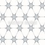 Geometrische Blumen Nahtloses Vektormuster