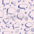 Speach Bubbles On Paper Seamless Vector Pattern Design
