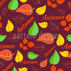 Autumnal Typography Repeating Pattern