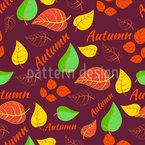 Herbstliche Typografie Rapportiertes Design