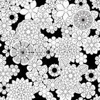Zentangle Blumen Nahtloses Vektormuster