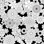 Zentangle Flowers Seamless Vector Pattern Design