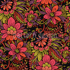 Blumen-Dschungel Musterdesign