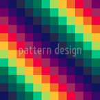 Rainbow Chess  Seamless Vector Pattern Design