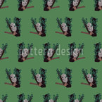 Slumber Koala Seamless Vector Pattern Design