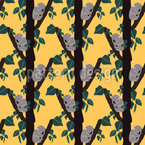 Colony of Sleeping Koalas Seamless Vector Pattern Design