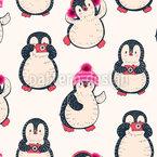 Vintage Pinguine Vektor Muster