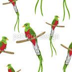 Viele Quetzale Muster Design