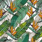 Tropische Bananenblätter Nahtloses Vektormuster