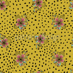 Flower Fur Seamless Vector Pattern Design