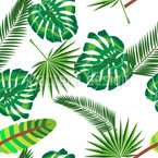 Tropische Szene Nahtloses Vektormuster