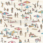 Tiny People At The Beach Design Pattern
