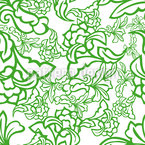 Oriental Tendrillars Seamless Vector Pattern Design