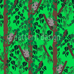 Koalababies On Eucalyptus Trees Seamless Vector Pattern
