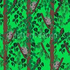 Koalababies im Eukalyptuswald Nahtloses Vektor Muster