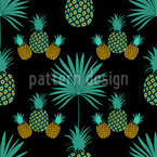 Tropical Night Party Seamless Vector Pattern Design