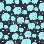 Mother And Baby Elephant Repeat Pattern