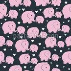 Mama und Baby-Elefant Muster Design