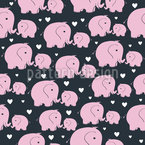 Mommy And Baby Elephant Pattern Design