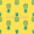 Sonnengeküsste Ananas Nahtloses Vektormuster