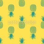Sunkissed Pineapples Vector Ornament