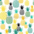 Ananas-Versammlung Nahtloses Vektormuster