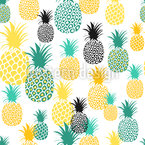 Pineapple Gathering Seamless Vector Pattern Design