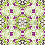 Play Among Hexagons Seamless Vector Pattern Design
