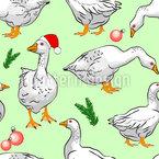 Gänse zu Weihnachten Nahtloses Vektormuster
