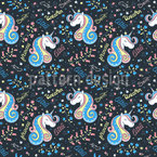 Unicorn Magic Vector Pattern