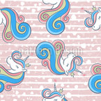 Heart-Unicorns Seamless Vector Pattern Design
