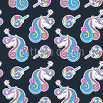 Fantastical Unicorns Seamless Vector Pattern Design