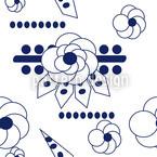 Blumen Blues Nahtloses Vektormuster