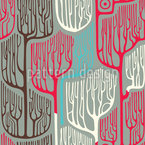 Haunted Forest Seamless Vector Pattern Design